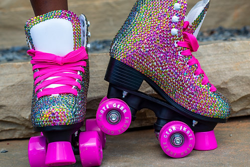 Pink / Green Youth Roller Skates