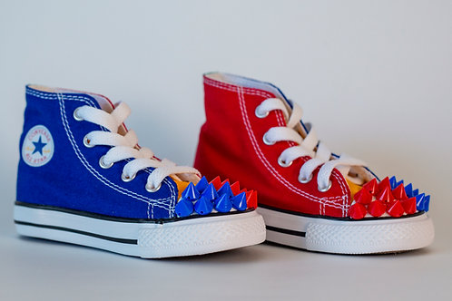 Multi Color Kid Spiked Converse