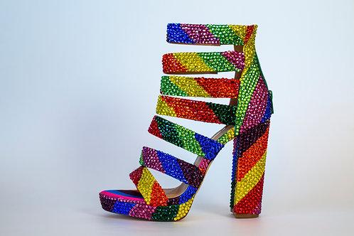 Rainbow Wedge Heels