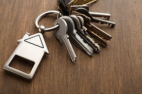 bunch-of-keys-with-house-shaped-keychain