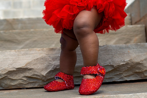 Ruby Red Baby Slippers