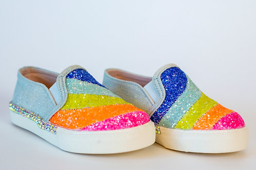 Cupcake Glitter Multi Color Slip On