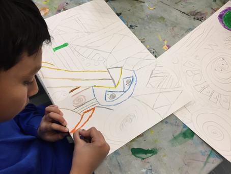 Grade 4: Abstract Art Inspired by Kandinsky