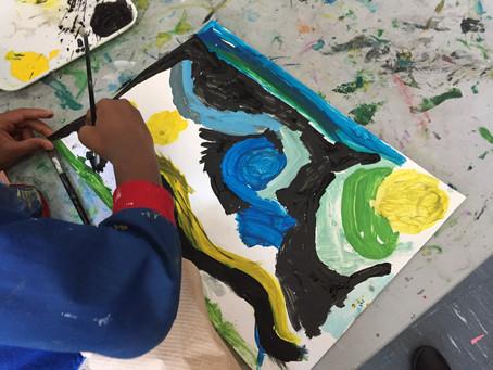 Grade 2: Painting The Starry Night