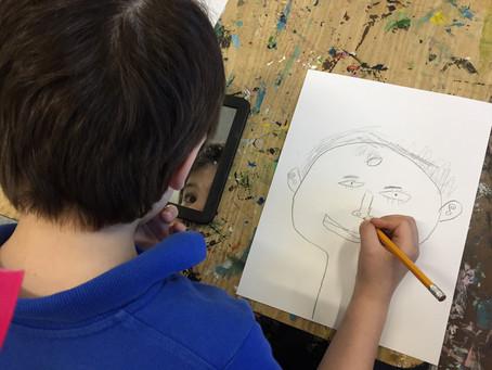 Grade 1: Self-Portraits!