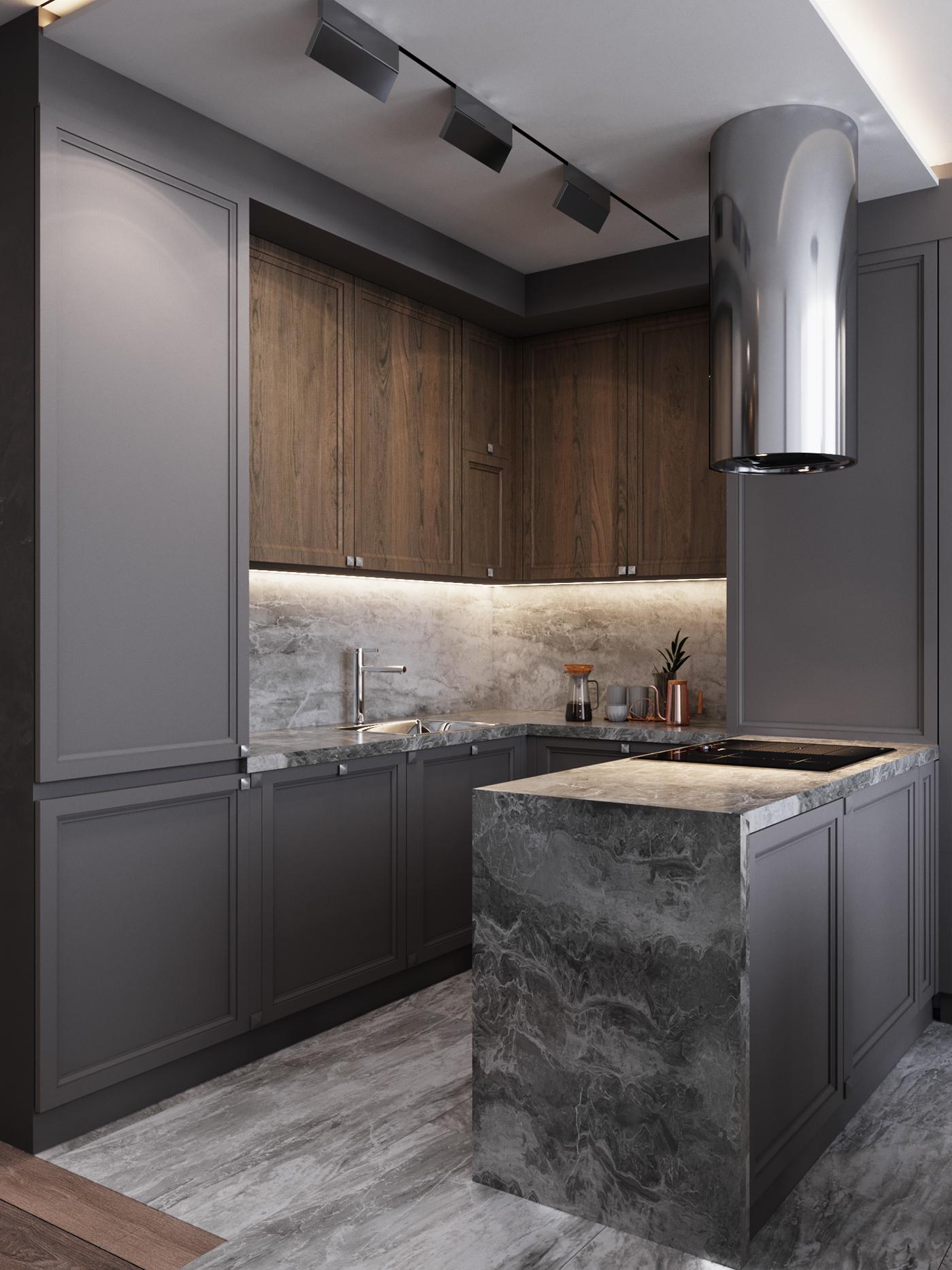 кухня 23m