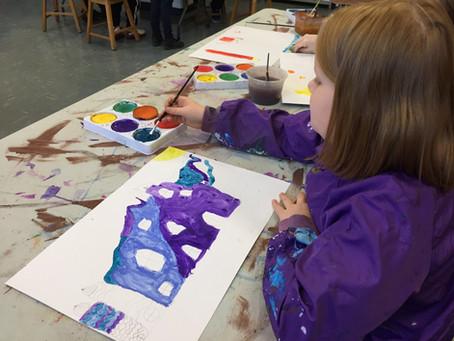 Grade 3: Hundertwasser Inspired Paintings