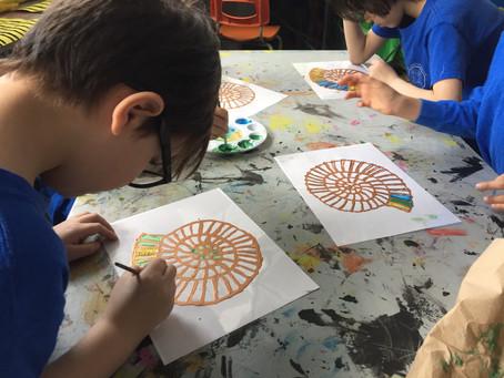 Grade 2: Ammonite Suncatchers
