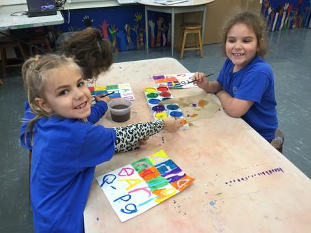 Grade 1: Jasper Johns Inspired Paintings