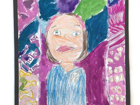 Grade 2B Self-Portraits