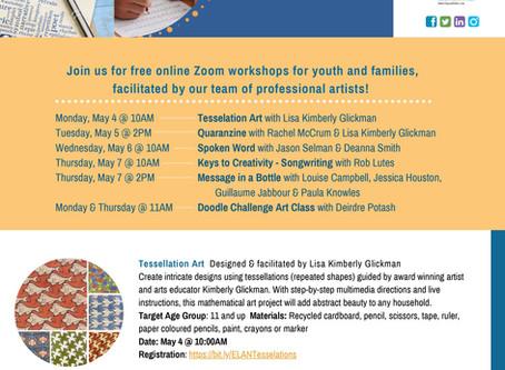 Online Arts Workshops!