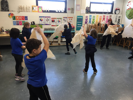 Grade 4B: Puppetry with Maggie Winston
