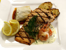 Custom Plated Menu - Roasted Salmon with
