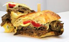 Shaved Roast Striploin Hot Sandwich