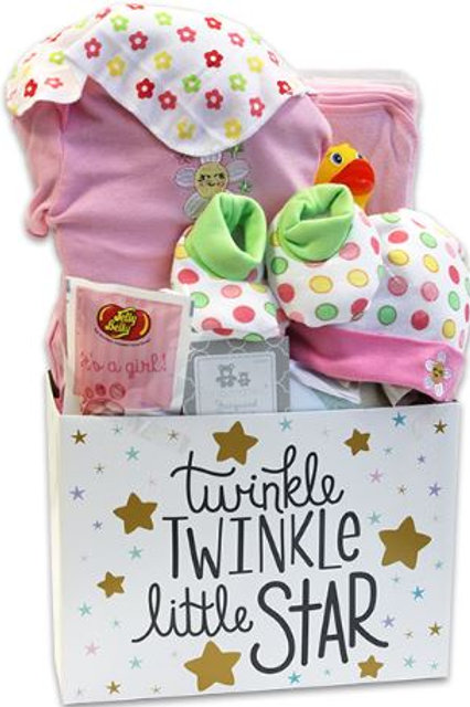 Twinkle Twinkle Gift Basket - Pink (GBA968)