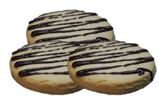 Sugar Cookies Drizzled with Chocolate