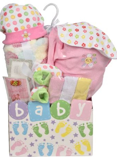 Baby Steps Gift Basket - Pink (GBA966)