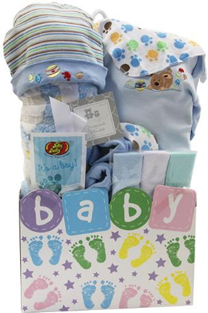 Baby Steps Gift Basket - Blue (GBA965)