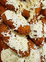 Panko crusted chicken parmesan with hous