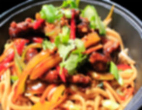 Ginger Beef Noodle Bowl