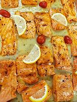 Fresh Salmon Steak NO BONES with Herb Sa