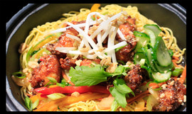 Hot Honey Chicken with Chow Mein Bowl