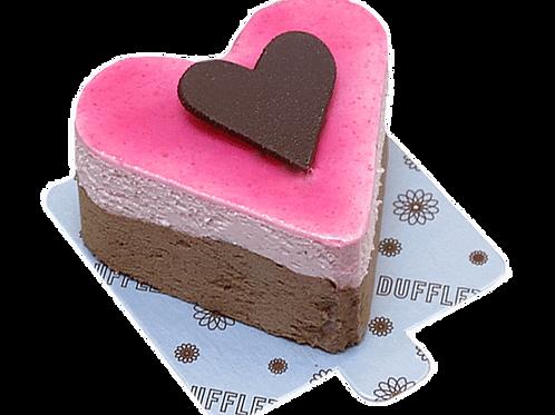 Raspberry Chocolate Mousse Heart Mini