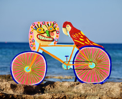 Lucia and Pericles on Bicycle