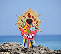 Happy Balinese Warrior