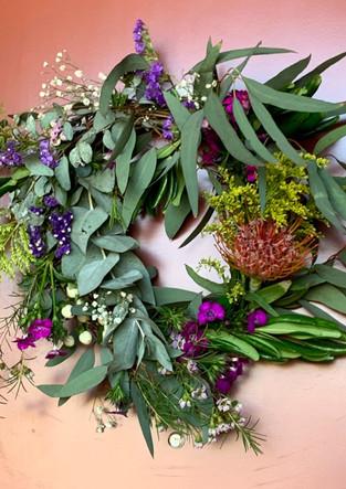 Vine base wreath