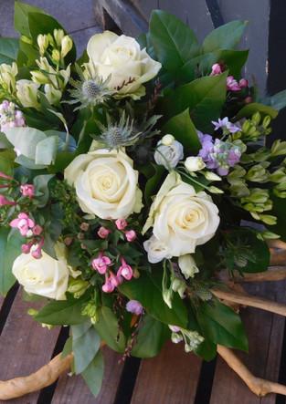Handtied bridal bouquet.