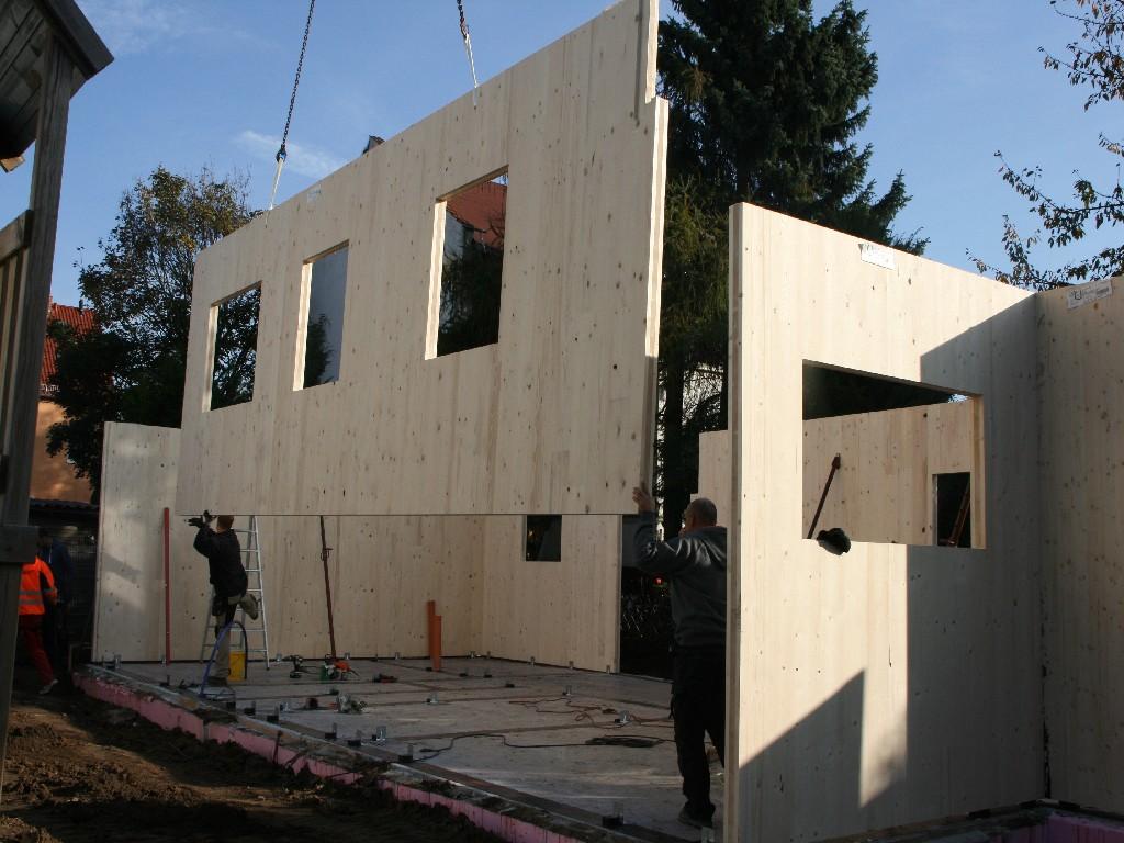 Bauphase Aussen , Woche 1