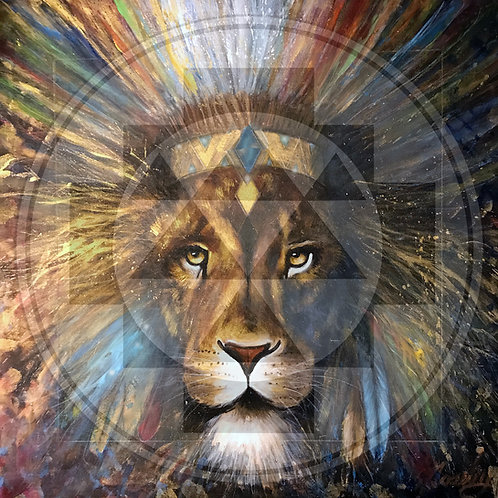 """Lion-Spirit"" Print on Canvas"