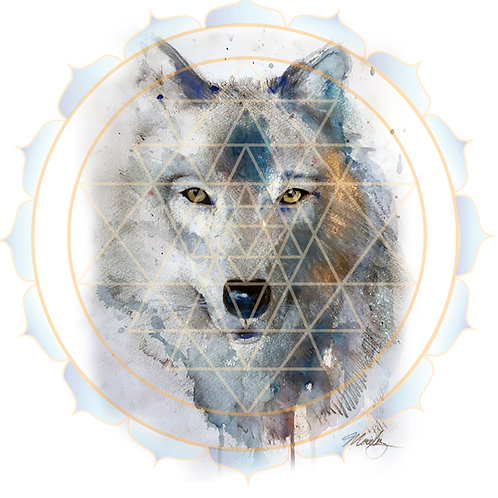"""Wolf Yantra"" Print on Paper"