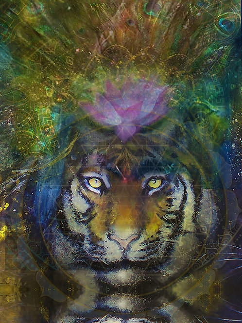 """Tiger Spirit"" Print on Canvas"