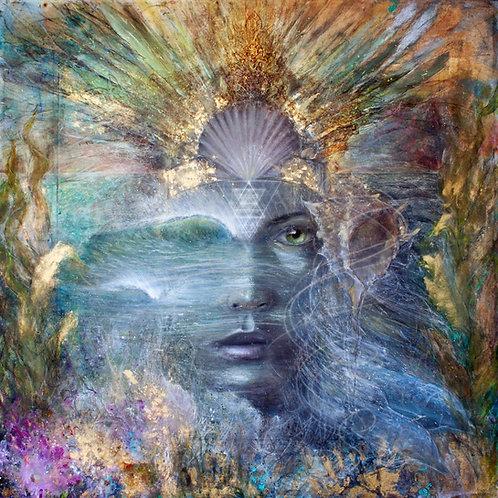 """Sea-Priestess"" Giclee Print on Canvas"