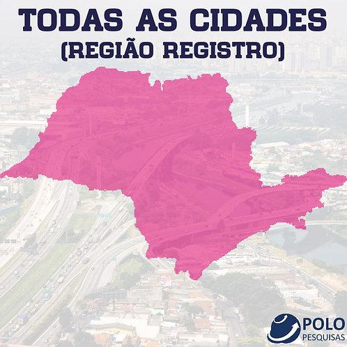 TODAS AS CIDADES (REGIÃO REGISTRO)
