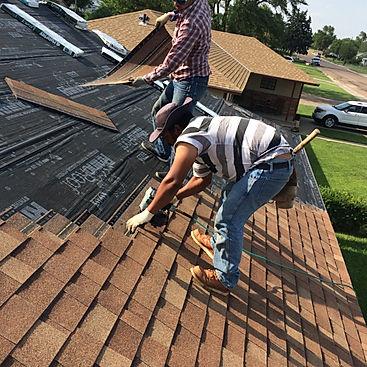 Roofers are installing Malarkey Shingles