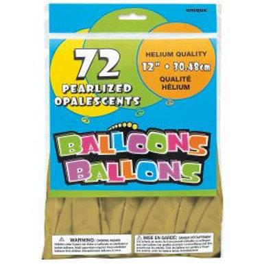 "Balloon Latex 12"" Pearl Gold 72C"