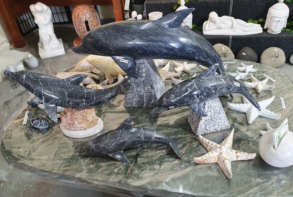 Stone Statue Dolphin