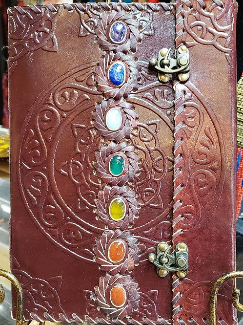 Seven Chakra Leather Journal