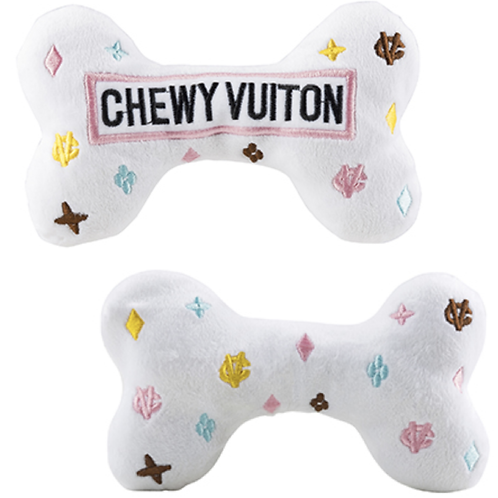 White Chewy Vuitton Bone Toy