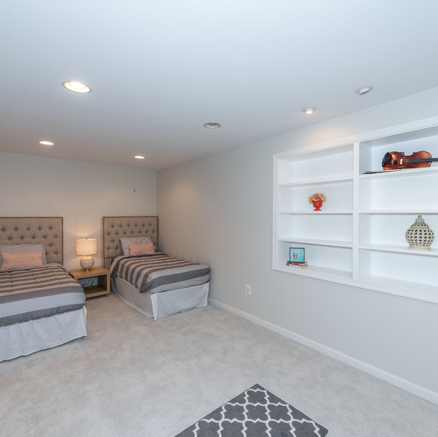 Staging Basement Bedroom