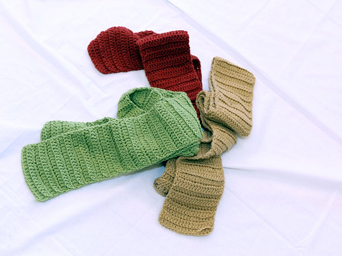 Hand Crocheted Scarf Child and Adult Sizes