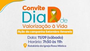 Setembro Amarelo: Dia D de Valorização à Vida será neste sábado (11)