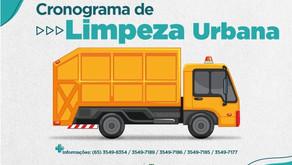 Cronograma de Limpeza Urbana dos bairros é atualizado para melhorias; confira