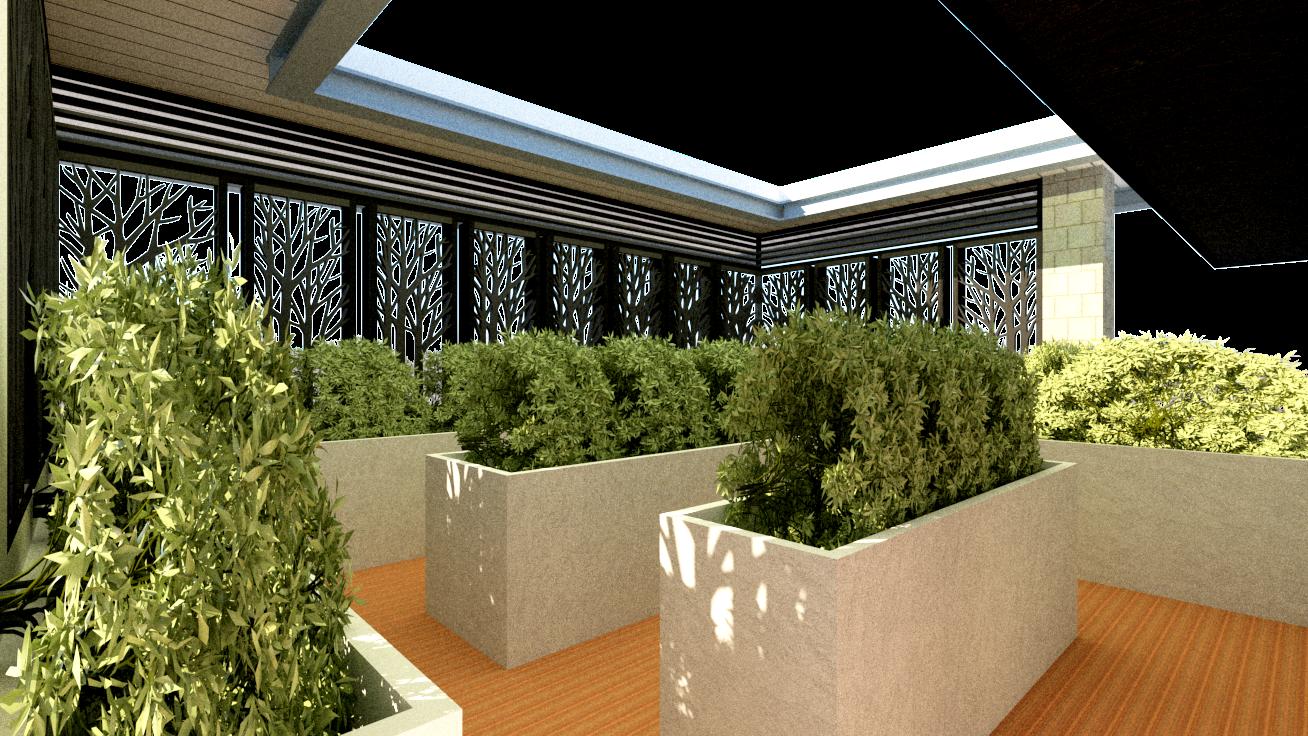 roof deck garden for 9 storey garden dormitory by Arch Joseph C. Chua