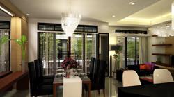 Dining Area, Lanai & Living Room