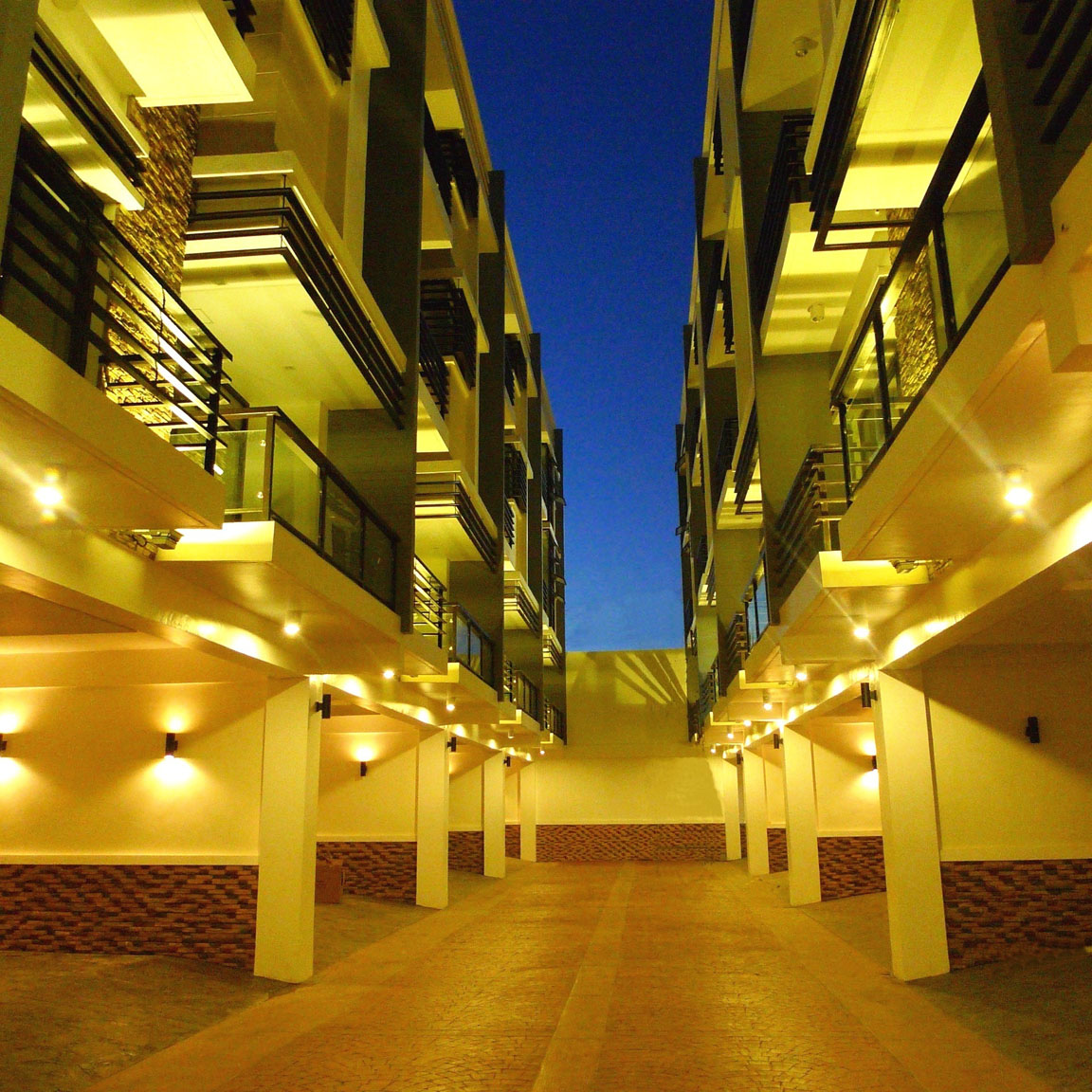 Aventi Townhomes night view