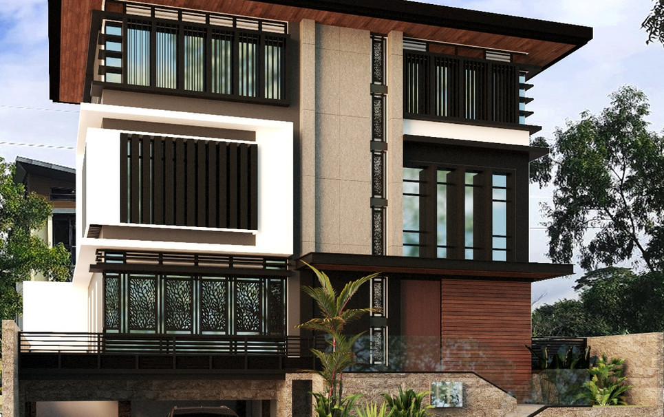 Proposed 3 storey residence with basement - Mckinley West Taguig City